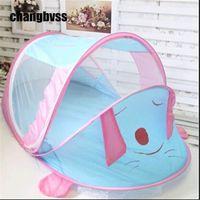 Wholesale Cartoon Baby Cot - Portable mosquito net Baby Cot Canopy Mosquito Infant Portable Travel Bed Crib Bug Net Cartoon cute