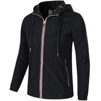 Wholesale jackets hoods for men - M525 Men Spring Autumn Hood thin Windbreaker Full Zip hoodies for men Sweatshirt Jacket Sportswear Clothes tracksuit