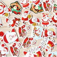 mini navidad pegatinas al por mayor-48 unids / caja Feliz Navidad mini etiqueta engomada de papel decoración DIY diario scrapbooking sello adhesivo kawaii papelería suministro de material escolar