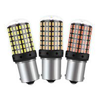 ingrosso led lampeggiante giallo-T20 7440 W21W Lampadine a LED 3014 144smd led CanBus Nessun errore 1156 BA15S P21W BAU15S PY21W lampada a led per auto Indicatore di direzione No Flash