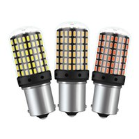 py21w birne großhandel-T20 7440 W21W LED Birnen 3014 144smd führten CanBus kein Fehler 1156 geführte Lampe BA15S P21W BAU15S PY21W für Auto-Blinker-Licht kein Blitz