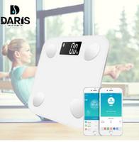 напольные дисплеи оптовых-SDARISB Bluetooth весы для пола Вес тела Весы для ванной Smart Smartlight с подсветкой Вес тела Body Body Fat Water Muscle Mass BMI