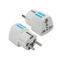 Wholesale International Plug Sockets - International DE EU Adapter Travel Universal Electrical EU Plug For UK US AU to European Socket Converter White