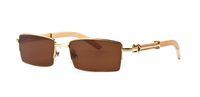 Wholesale mens wood sunglasses for sale - Mens Semi Rimless Glasses Wooden Buffalo Horn Glasses Brand Optical Sunglasses Women Silver Gold Wood Glasses Carving Eyewear Frames