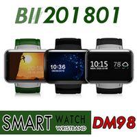 Wholesale mtk6572 hd resale online - DM98 Smart watch Android MTK6572 Dual Core Ghz inch IPS HD mAh Battery MB Ram GB Rom G WCDMA GPS WIFI smartwatch