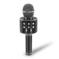ingrosso lettore karaoke di usb-Microfono senza fili Bluetooth WS-858 Karaoke portatile Mic USB KTV Player Altoparlante Bluetooth Registra microfono da musica WS858