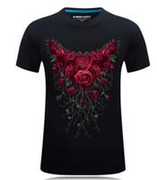 ingrosso grande stampa 3d-Maglietta 3D Uomo Estate Floreale Rosa stampato Magliette Plus Size Abbigliamento Taglie grandi Tees Maniche corte Tops