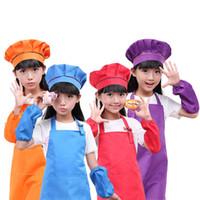 Wholesale free kid crafts for sale - Group buy Practical Kids Aprons Pocket Craft Cooking Baking Art Painting Kids Kitchen Dining Bib Children Aprons Kids Aprons colors