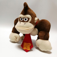 Wholesale plush brown monkey for sale - 100 Cotton Super Mario Bros Monkey King Kong Plush Doll Stuffed Toy Best Gifts quot cm mf001