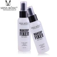 spray marke großhandel-Marke 100 ml Make-up fixer Langlebige Foundation Fixer Matte Finishing Einstellung Spray Naturkosmetik DHL-freies Verschiffen