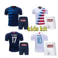 Wholesale Children United States - Hot Kids kits 2018 2019 PULISIC Soccer Jersey 18 19 DEMPSEY BRADLEY ALTIDORE WOOD America youth Football jerseys child United States Shirt
