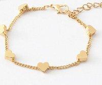 Wholesale dainty bracelets - SL151 pulseras mujer Women Bracelets LOVE Heart Infinity Minimalist Jewelry Summer Beach Boho Bracelet Dainty 2017 HOT Selling