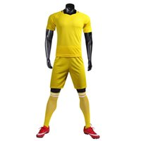 Wholesale size hot online - 2018 FOOTBALL SUIT SOCCER KIT BLANK SUIT SIZE S M L XL CUSTOMIZED ITEM NEW ARRIVAL HOT SALE BLACK YELLOW GREEN WHITE PURPLE
