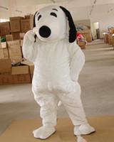 ingrosso cane costumi adulti-2018 di alta qualità EPE formato adulto Snoopy Dog Mascot Costume Halloween Chirastmas Party Fancy Dress