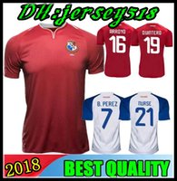 Wholesale red nurse - 2018 PANAMA Soccer Jerseys NURSE GODOY TORRES OVALLE QUINTERO HOME AWAY JERSEY 18 19 RED WHITE FOOTBALL SHIRT