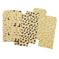 Wholesale Cute Stationery Envelopes - 5 Pcs lot Mini Kawaii Kraft Paper Envelopes Cute Cartoon Anmals Paper Stationery Gift For Greeting Card