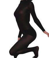 traje zentai de carne al por mayor-Body de piel sexy a través del segundo traje de piel Zentai Unitard Body de mujer