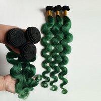 бразильские перья оптовых-Женская мода перо бразильский Виргинские волосы ломбер ткет расширение сексуальная 1B / зеленый два тона необработанные 8-28 дюймов монгольский человеческих волос DHgate