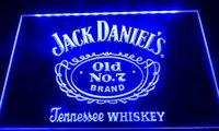 sinais conduzidos venda por atacado-LS038-b jack daniels velho não 7 bar cerveja sinais de luz de néon Decor Frete Grátis Dropshipping Atacado 8 cores para escolher