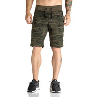 спортивные шорты оптовых-2018 New Quick Dry Mens Camouflage shorts Men Board Short Sport Surf Beach Short for Men Athletic Marathon Running Gym