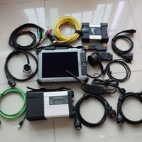 Wholesale used laptop online - 2IN1 for mb star c5 sd connect for bmw icom next ssd xplore ix104 laptop i7 g diagnose ready to use best