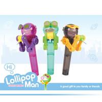 ingrosso giocattolo di robot di qualità-I bambini creativi che mangiano il supporto del Lollipops del robot Lecca-lecca SVEGLIA si reggono i regali Toy Toy 2018 Nuovo arrivo di alta qualità