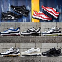 Wholesale top style for men - 2018 New Air Fashion Classic Style 98 Men Running Shoes Authentic Sports Shoes For Men High quality AAA Top Sneakers size 39-45