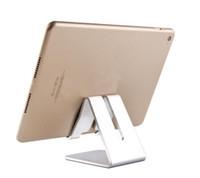 ipad için alüminyum ayaklığı toptan satış-Lüks Cep Telefonu Tablet Danışma Tutucu Alüminyum Metal iPhone iPad Mini Samsung Smartphone Tabletler Için Standı perakende kutusu ile DHL ücretsiz