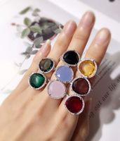 amethyst zircon großhandel-Top Messing Material Paris Design Ring mit Zirkon und Diamant verzieren Stempel Logo Charme Platin Ring für Frauen und Mutter Schmuck PS6411