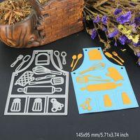 Wholesale Paper Embossing Tools - Cook Tools DIY Metal Cutting Dies Stencil Scrapbook Card Album Paper Embossing Crafts
