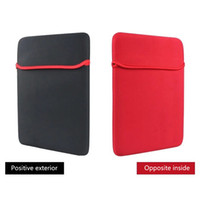 Wholesale laptops black red online - 7 quot quot quot Universal Sleeve Carrying Neoprene Pouch Soft Case Laptop Pouch Protective Bag For Macbook iPad Tablet PC Protective Cover Bag