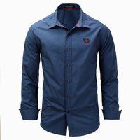 herren langarm polo blau großhandel-2018 Langarm Hemden Slim Fit POLO Shirts Herren Frühling Herbst Kleidung Marke Kleidung Hohe Qualität Grün Weiß Blau