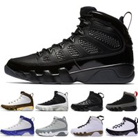 Wholesale pe basketball - Mop Melo Bred 9 9s LA Mens basketball shoes black white Grey OG Space Jam Spirit Lakers PE Anthracite Men sports Sneakers trainers designer