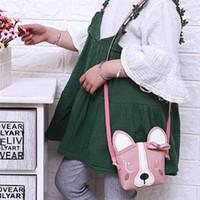 подарок киски оптовых-Children Cartoon Messenger Bag Kids Girls Cute Animal Print Child Pussy Shoulder Bag Mini Gift
