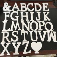 décoration de lettres en bois achat en gros de-28 Styles Épais Bois En Bois Blanc Lettres Alphabet De Mariage Anniversaire 8 cm AMOUR Nom de mariage décorations pour la Maison Nouveauté Articles GGA756