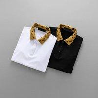 Wholesale Designer Formal Men Shirts - 2018 Men's Polos Short-Sleeves Letter embroidery designer 3D Brand Luxury polo short T-shirts lapel Tees Formal Shirt for man Slim M-3X