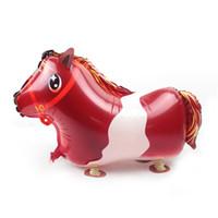 novo estilo balões venda por atacado-Andando Animal de Estimação venda quente pequeno cavalo ar Balão novo estilo Crianças Balão Brinquedos Presente Para O Aniversário Do Partido de Aniversário fornecimento decoração