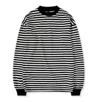ba04507bbd Wholesale striped long sleeve shirt men online - New Men T shirt Hip hop  Fashion ROUND
