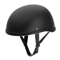 шлем оптовых-Adult Medium Retro Motorcycle Helmets Half Helmet Unisex Protection Helmet Black Capacete Half Shell Helm Matte Racer Motocross