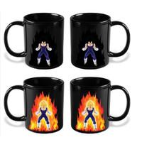 copo de café do dragão venda por atacado-Dragon Ball Z Caneca dos desenhos animados Goku Caneca de Cor Quente Mudando Copos Copos de Café Super Saiyajin C5010