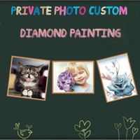 Wholesale Custom D DIY Private Photo Diamond Painting Mosaic Make Your Own Family Diamond Embroidery Cross Stitch Crafts Memorable Gift