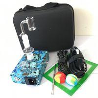 e nagelspulenheizung temperaturregler großhandel-Quartz Banger E Nagel Nagel Kits PID Temperaturregler elektrische Dab Nagel Box 14mm 18mm 2in1 mit Spule Heizung 20mm