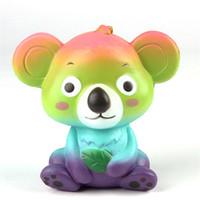 Wholesale cute koala - Super Cute Squeeze Koala Bear Squishy Pu Slow Rising Jumbo Bun Squishies Deduce Stress Fun Props For Kids Gifts 13 5sz Z