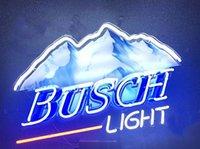 enseignes de bière néon busch achat en gros de-Busch Light Neon Light Sign Home Bière Bar Pub Salle De Récréation Jeu Lumières Windows En Verre Mur Signes 24 * 20 pouces