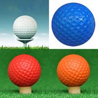 açık top renkleri toptan satış-Yeni Golf Topu PU Köpük Spor Elastik Işık Kapalı Açık Eğitim Uygulama Karışık Renk Sünger GGA282 300 ADET