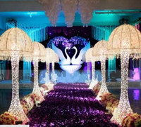 Wholesale led light resale online - New Wedding Decor Centerpieces led Light Up jellyfish Roman Column Road Leads for Party Decoration Props