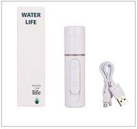 Wholesale facial humidifiers - USB Nanometer Facial Moisturizing Hydrometer Cold Sprays Humidifier Beauty Evaporator Easy Carry Nano Mist Spray Beauty Equipment