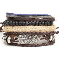 Wholesale men s jewelry sets resale online - 10Sets Leather Bracelet Men S Multilayer Bead Bracelet Women S Retro Punk Casual Men S Jewelry Bracelet Jewelry Accessories