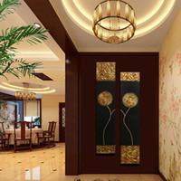 ingrosso oro di olio di arte della parete-Dipinto a mano Moderna astratta Oro nero Pittura a olio Grande parete verticale strutturata Arte decorativa su tela per soggiorno