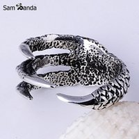 Wholesale Mens Claw Rings - Wholesale- 2017 New Arrival Men Dragon Claw Titanium Steel Fashion Ring Mens Stainless Steel Vintage Rings Anillos Fine Jewelry NP152